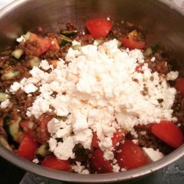 Puy Greek lentil salad